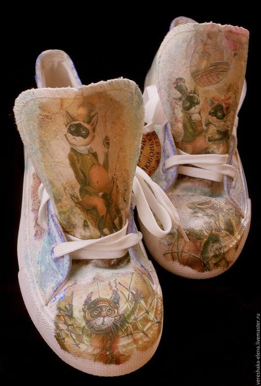 Обувь ручной работы. Ярмарка Мастеров - ручная работа. Купить кеды. Handmade. Комбинированный, кеды, туфли, кроссовки