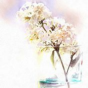 Картины и панно handmade. Livemaster - original item Paintings of flowers. Watercolor-Syrenka-. Handmade.