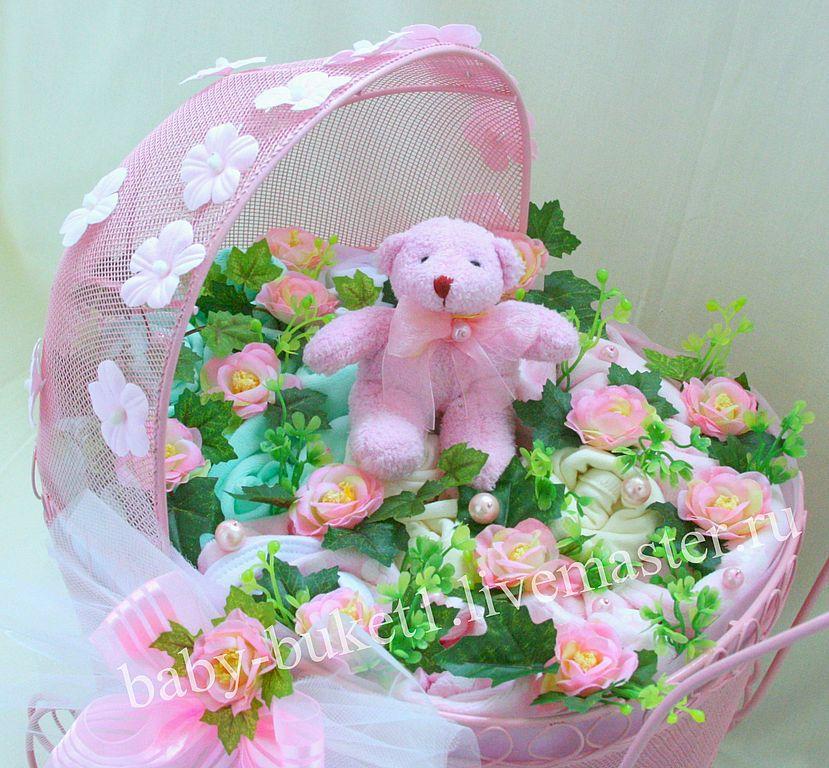 Букет для новорожденных близняшек, цветов
