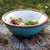 Тарелки ручной работы. Ярмарка Мастеров - ручная работа Мерцающая тарелка, ПАСТЕЛЬ, керамическая миска, салатник. Handmade.