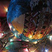 """Сувениры и подарки ручной работы. Ярмарка Мастеров - ручная работа Музыкальный шар """"Города и рыбы"""". Handmade."""