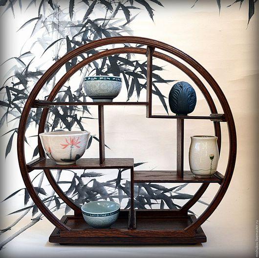 Мебель ручной работы. Ярмарка Мастеров - ручная работа. Купить Полка-этажерка в китайском стиле. Handmade. Коричневый, миниэтажерка