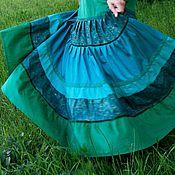 Одежда ручной работы. Ярмарка Мастеров - ручная работа Зеленая нарядная юбочка. Handmade.
