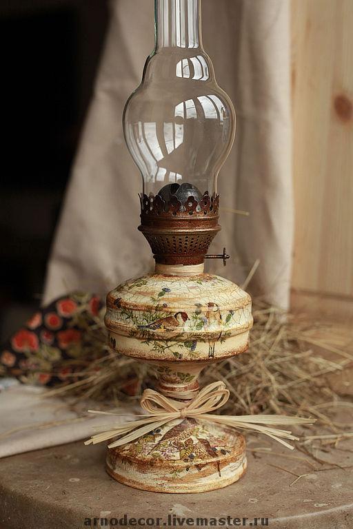 """Освещение ручной работы. Ярмарка Мастеров - ручная работа. Купить Керосиновая лампа """"Соловьиная роща"""". Handmade. Керосиновая лампа"""