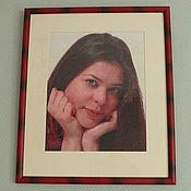 Картины и панно ручной работы. Ярмарка Мастеров - ручная работа Вышитый Портрет с руками. Handmade.