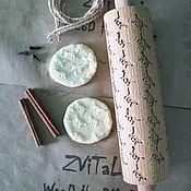 Для дома и интерьера ручной работы. Ярмарка Мастеров - ручная работа Пряничная скалка КОШКИ. Handmade.