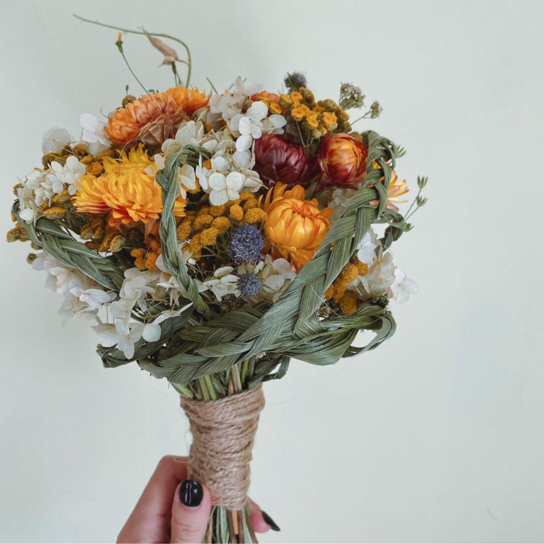 Букет из сухоцветов «Оранжевый», Букеты, Москва,  Фото №1