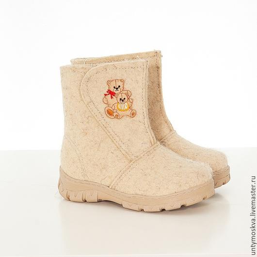 Обувь ручной работы. Ярмарка Мастеров - ручная работа. Купить Валенки для малышей. Handmade. Обувь ручной работы, унты детские
