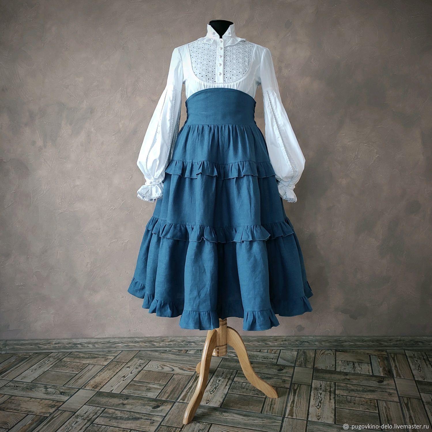 Ярусная юбка с корсетным поясом, Юбки, Кемерово,  Фото №1