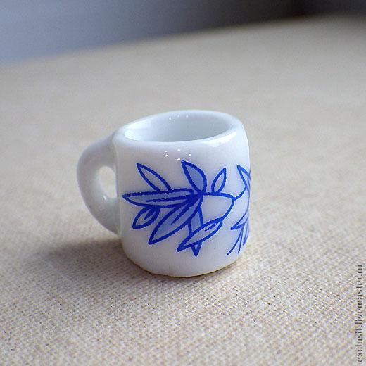 Для украшений ручной работы. Ярмарка Мастеров - ручная работа. Купить Кружка (чашка) керамическая декоративная для миниатюр. Handmade. Чашка
