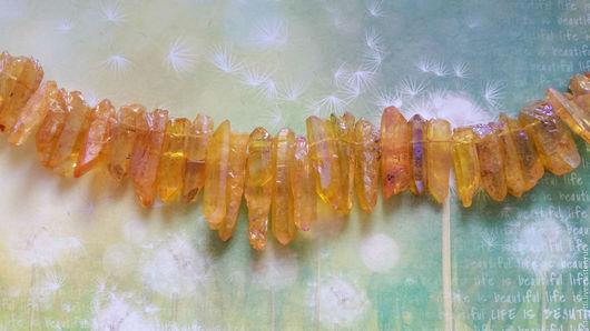 Для украшений ручной работы. Ярмарка Мастеров - ручная работа. Купить Кристаллы кварца (бусины с тонировкой), от 16 до 44 мм. Handmade.