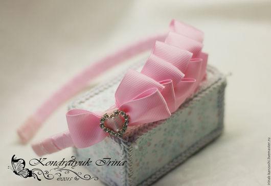 """Детская бижутерия ручной работы. Ярмарка Мастеров - ручная работа. Купить Ободок для девочки """"Розовый"""". Handmade. Розовый, ободок для волос"""