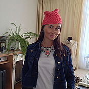 Аксессуары handmade. Livemaster - original item Beanie hat crocheted