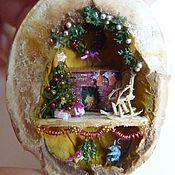 Подарки к праздникам ручной работы. Ярмарка Мастеров - ручная работа Рождество в орешке - микротюра. Handmade.
