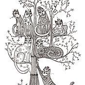 Открытки handmade. Livemaster - original item Postcard with a fairy Tale for good people