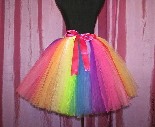 Одежда для девочек, ручной работы. Ярмарка Мастеров - ручная работа. Купить юбка TUTU Радуга. Handmade. В полоску, фатин