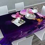 Дизайн и реклама ручной работы. Ярмарка Мастеров - ручная работа Скатерть  Орхидея на воде 120х145 принт. Handmade.