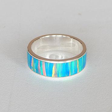 Decorations handmade. Livemaster - original item Silver ring with opal №11. Handmade.