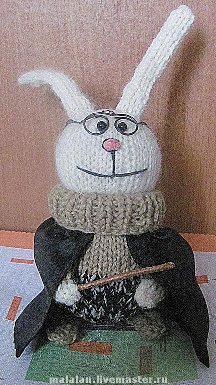 """Игрушки животные, ручной работы. Ярмарка Мастеров - ручная работа. Купить вязаный """"Hare Potter"""". Handmade. Заяц, вязаные игрушки"""