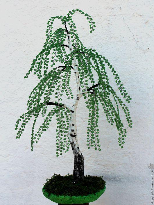 Деревья ручной работы. Ярмарка Мастеров - ручная работа. Купить Белая береза. Handmade. Зеленый, весна, проволока