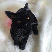 Мягкие игрушки ручной работы. Ярмарка Мастеров - ручная работа Игрушки: Кошка Бомбейкая с янтарными глазами. Handmade.