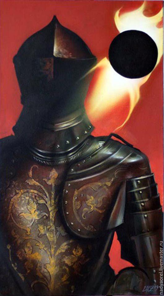 """Фэнтези ручной работы. Ярмарка Мастеров - ручная работа. Купить одни из серии работ """"Рыцари"""". Handmade. Чёрно-белый, красный"""