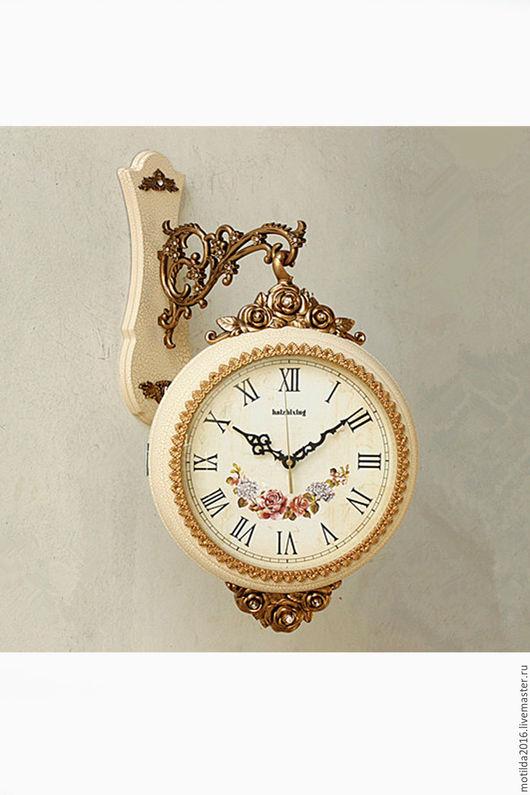 Часы для дома ручной работы. Ярмарка Мастеров - ручная работа. Купить Настенные часы, двухсторонние. Handmade. Белый, часы необычные