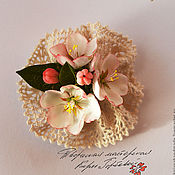 Украшения handmade. Livemaster - original item Brooch with flowers of Apple