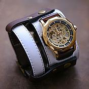 Украшения handmade. Livemaster - original item watches: Double White mechanical with removable bracelet. Handmade.