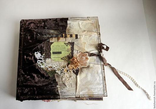 """Фотоальбомы ручной работы. Ярмарка Мастеров - ручная работа. Купить Альбом в стиле бохо """"Кофе и шоколад"""". Handmade. Коричневый"""