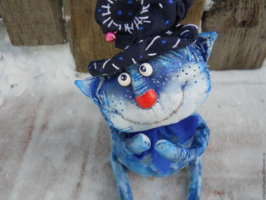 Куклы и игрушки ручной работы. Ярмарка Мастеров - ручная работа. Купить Синий птенчик(и Кот). Handmade. Тёмно-синий, птенчик