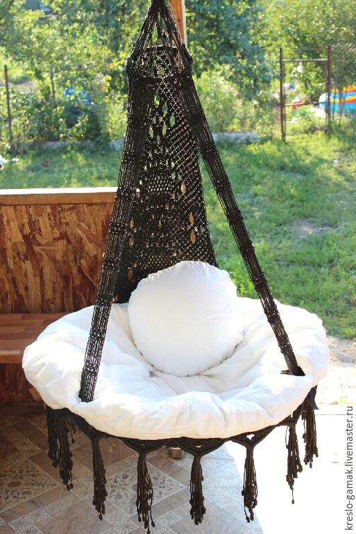 Мебель ручной работы. Ярмарка Мастеров - ручная работа. Купить Плетеное подвесное кресло-гамак. Handmade. Кресло-гамак