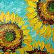 Абстракция ручной работы. Ярмарка Мастеров - ручная работа. Купить Картина маслом Солнечная свежесть. Handmade. Разноцветный, лимонный, абстракция