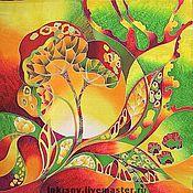 """Аксессуары ручной работы. Ярмарка Мастеров - ручная работа Платок """"Травы"""". Handmade."""