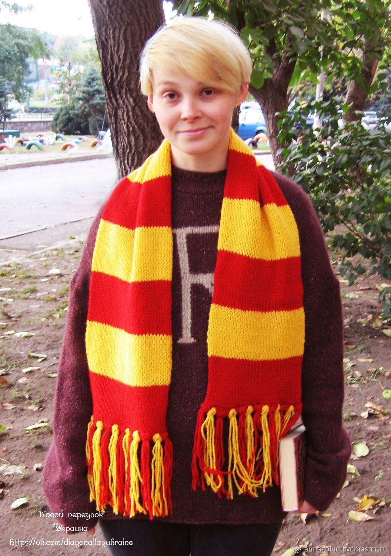 Вязание шарф в вертикальную полоску