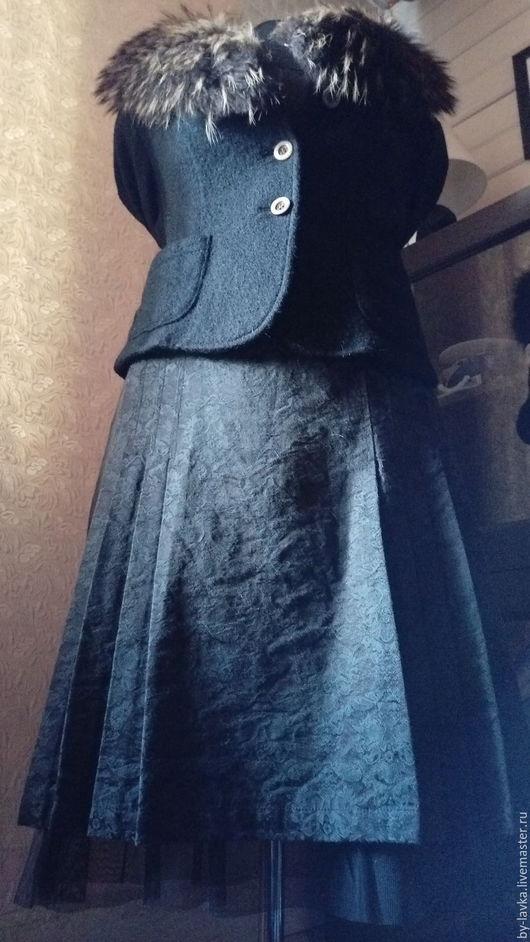 Одежда. Ярмарка Мастеров - ручная работа. Купить юбочка из жакарда. Handmade. Черный