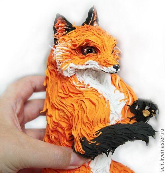 """Игрушки животные, ручной работы. Ярмарка Мастеров - ручная работа. Купить фигурка большая """"Рыжая лисичка"""" (лиса игрушка, статуэтка). Handmade."""