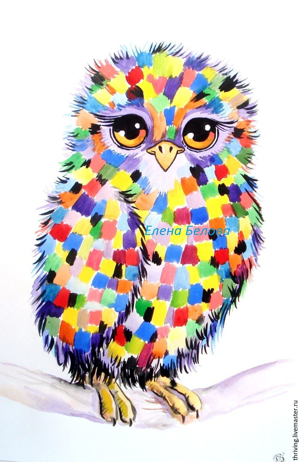 painting a vivid picture, the picture with the owl, love owl, beautiful, owl, picture in the nursery, night owl painting gift, gift for birthday