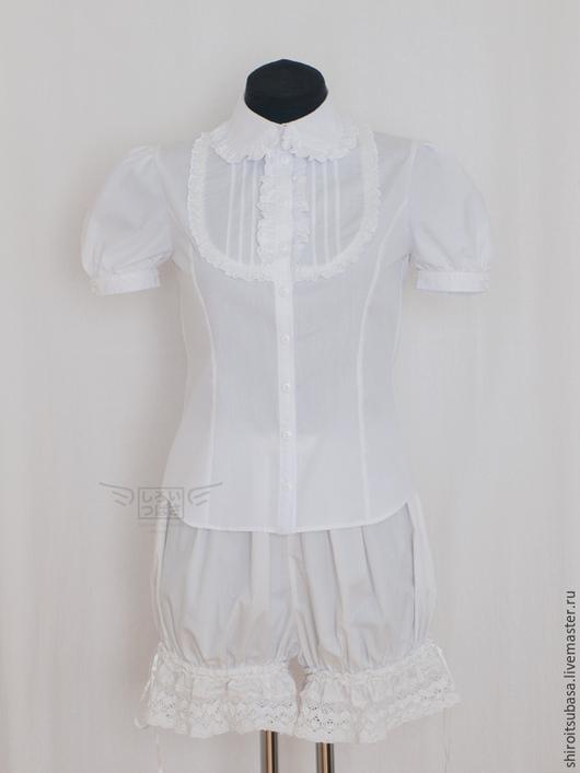 Блузки ручной работы. Ярмарка Мастеров - ручная работа. Купить Изысканная белая блузка (B1). Handmade. Белый, кружевная блузка
