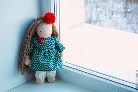 Вальдорфская игрушка ручной работы. Ярмарка Мастеров - ручная работа. Купить Гретта, вальдорфская кукла (33 см). Handmade.