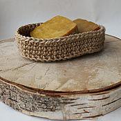 Для дома и интерьера handmade. Livemaster - original item Eco-soap box made of jute fiber.. Handmade.