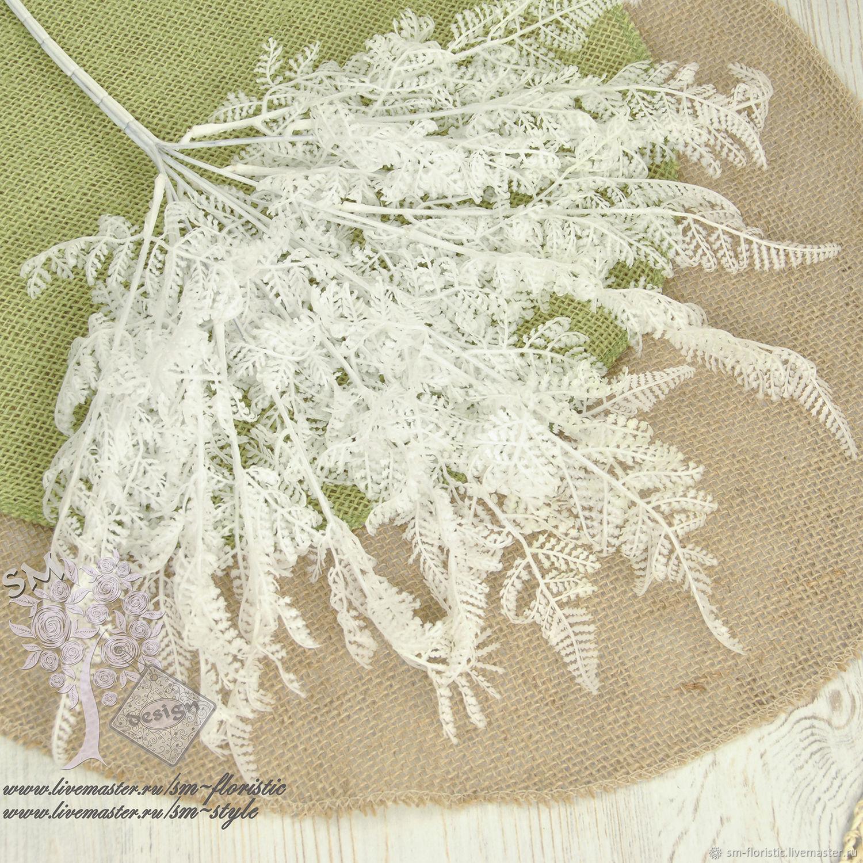 Материалы для флористики ручной работы. Ярмарка Мастеров - ручная работа. Купить Белый латексный куст 6409. Handmade. Трава, листики
