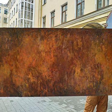 Diseño y publicidad manualidades. Livemaster - hecho a mano Los paneles bajo el moho artístico con la textura de la pared oxidada. Handmade.