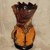 Для дома и интерьера handmade. Livemaster - original item vase wood butterfly carving. Handmade.