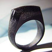 """Украшения ручной работы. Ярмарка Мастеров - ручная работа Деревянное кольцо """"Black Style"""" 15,0 размер. Handmade."""