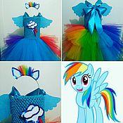 """Работы для детей, ручной работы. Ярмарка Мастеров - ручная работа Платье  """"Rainbow dash"""" (""""My little pony""""). Handmade."""