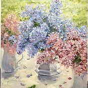 handmade. Livemaster - original item Oil painting Spring lilac lilac. Handmade.