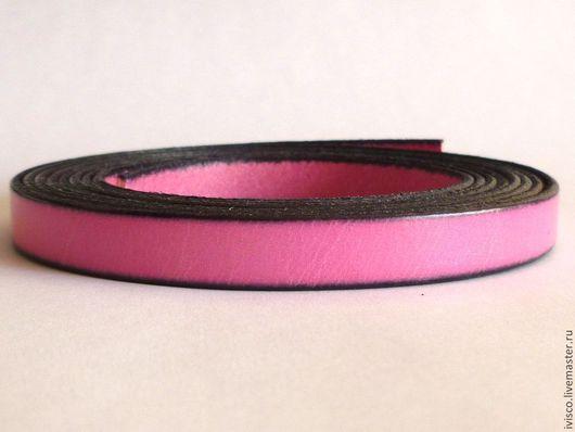 Для украшений ручной работы. Ярмарка Мастеров - ручная работа. Купить Кожаный шнур 10х2мм светло-розовый матовый. Handmade.