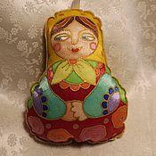Русский стиль handmade. Livemaster - original item Matryoshka dolls: textile, hand-painted, Christmas tree toys. Handmade.