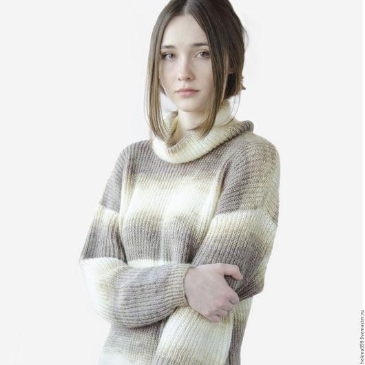 Платья ручной работы. Ярмарка Мастеров - ручная работа. Купить Платье  теплое  вязаное (удлиненная туника). Handmade. Модная одежда